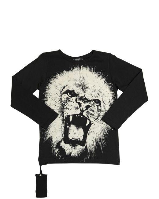 YPORQUÉ | Чёрный Cotton Jersey T-Shirt W/ Acoustic Device