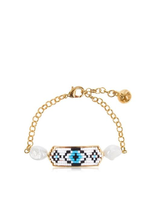 Shourouk | Золотой Moodz Pearl Eye Bracelet
