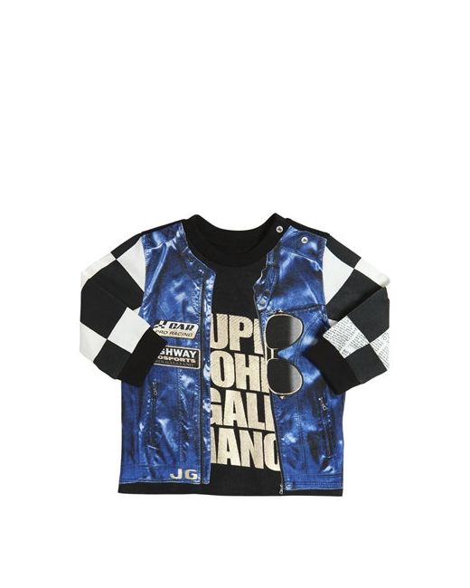 John Galliano | Чёрный Vest Printed Cotton Jersey T-Shirt
