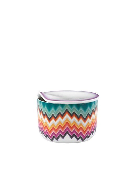 MISSONI BY RICHARD GINORI 1735   Многоцветный Zig Zag Collection Porcelain Sugar Bowl