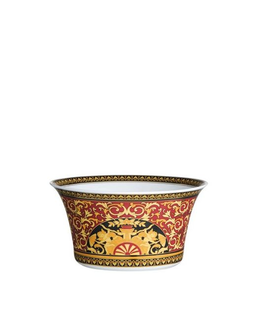 Versace | Золотой Medusa Red Porcelain Salad Bowl
