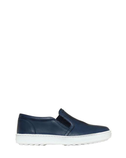 Tod'S | Синий Leather Slip-On Sneakers