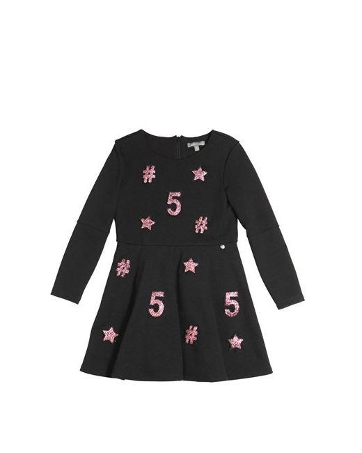 MISS GRANT   Чёрный Milano Jersey Dress W/ Glitter Patches