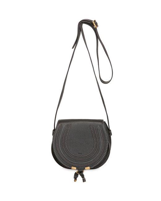 Chloe | Чёрный Small Marcie Leather Shoulder Bag