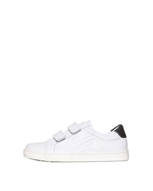 Armani Junior | Белый Logoed Leather Sneaker