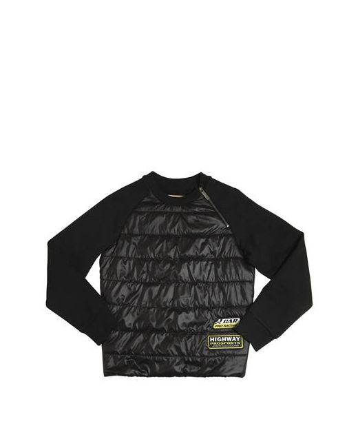 John Galliano | Чёрный Cotton Sweatshirt W/Padded Nylon Panel