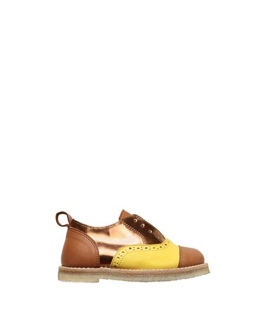 Pèpè | Желтый Nappa Laminated Leather Slip-On Shoes