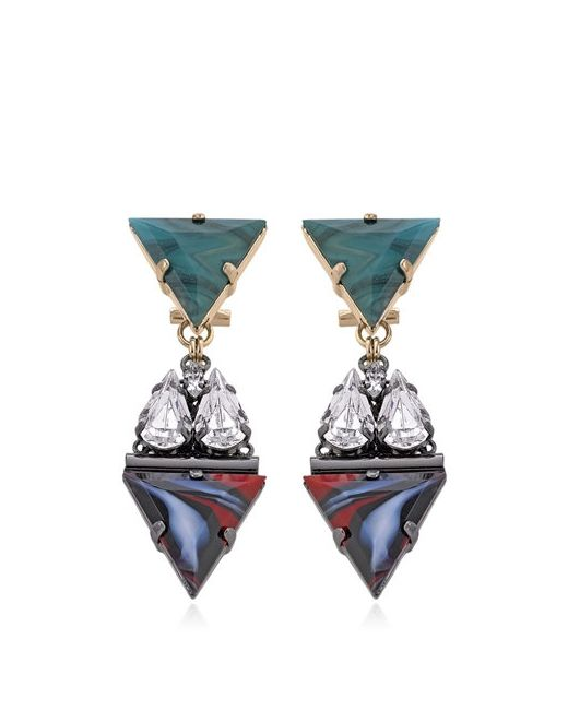Anton Heunis | Коричневый Art Deco Expression Earrings