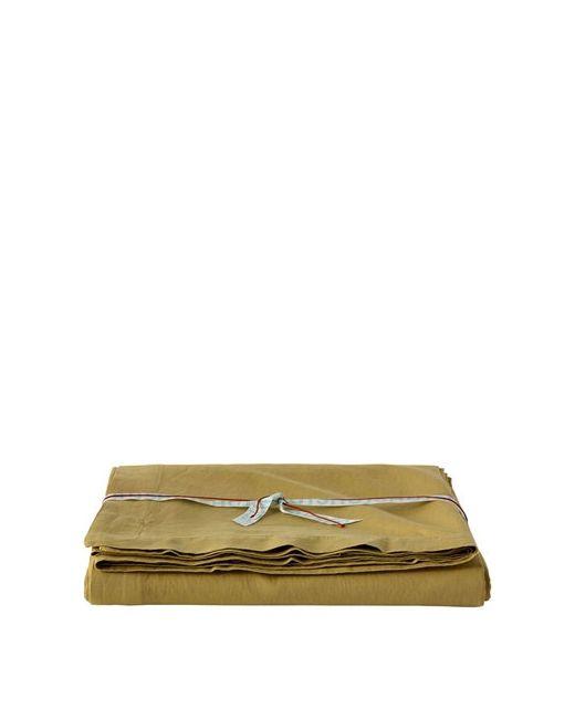 SHUJ   Желтый Cotton Linen Flat Bed Sheet