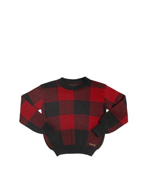 FINGER IN THE NOSE   Чёрный Plaid Wool Cashmere Angora Sweater