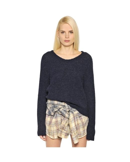 Faith Connexion   Navy Alpaca Blend Sweater