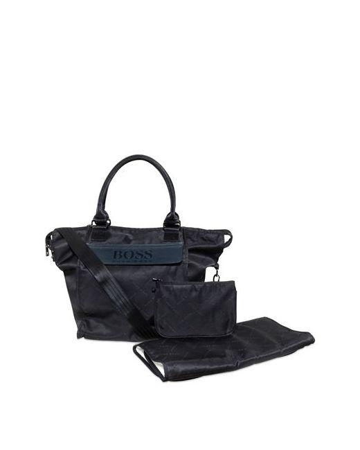 Hugo | Navy Logo Printed Nylon Changing Bag Set