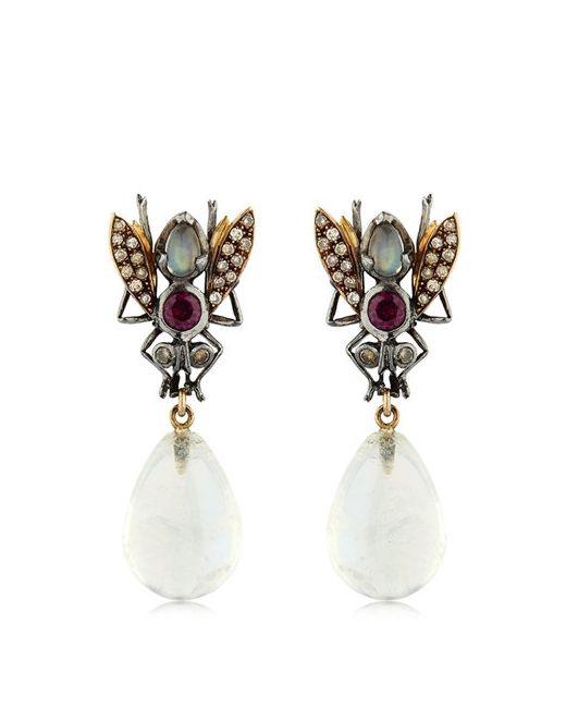 SYLVIE CORBELIN PARIS   Золотой Fly Earrings