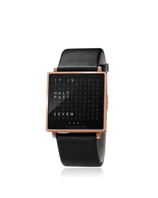 QLOCKTWO | Золотой English W Polished Rose Gold Watch
