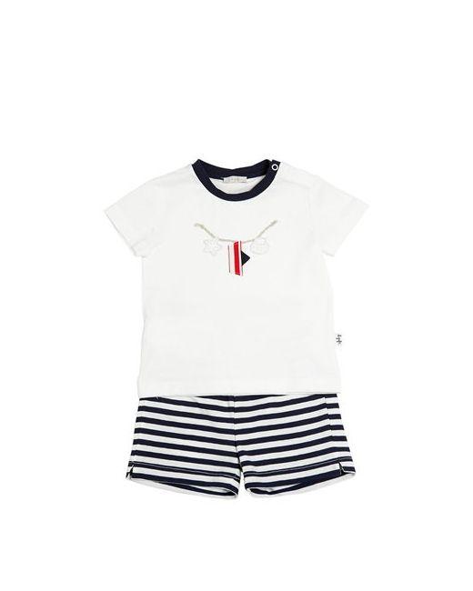 Il Gufo | Белый Cotton Jersey T-Shirt Striped Shorts
