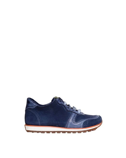 CARTA VETRATA   Синий Leather And Suede Running Sneakers