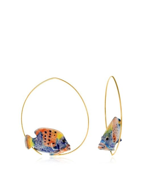 NACH | Золотой Surgeon Fish Earrings