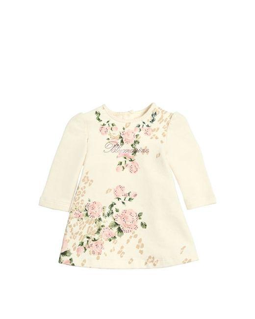 Miss Blumarine | Cream Embellished Cotton Dress