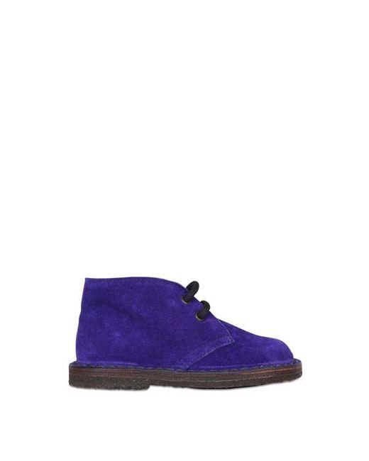 Pèpè | Violet Suede Derby Lace-Up Shoes