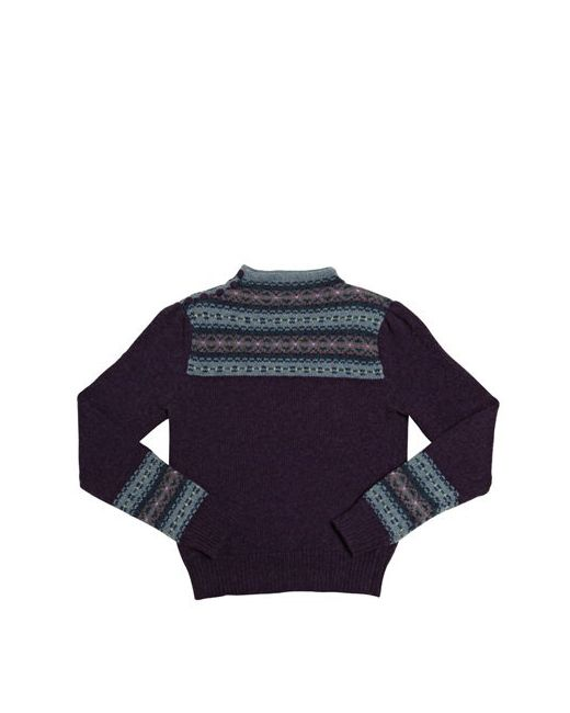 RALPH LAUREN CHILDRENSWEAR | Prune Cotton And Wool Crewneck Sweater