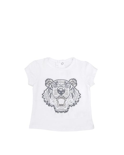 Kenzo Kids | Белый Tiger Embroidered Cotton T-Shirt