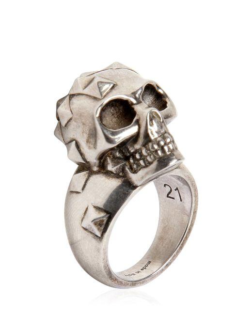 Alexander McQueen | Серебристый Studded Skull Ring