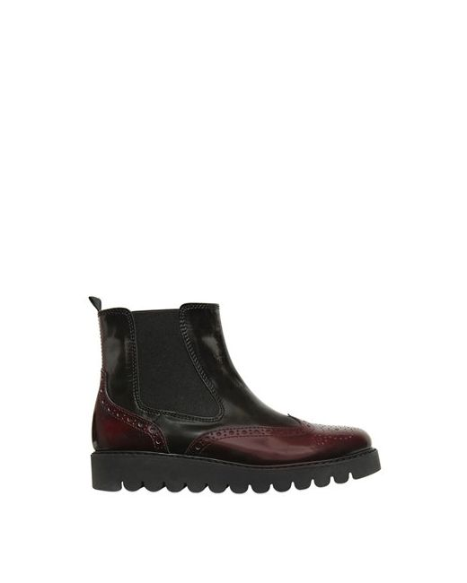 Florens | Чёрный Two Tone Leather Ankle Boots