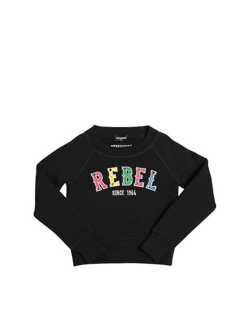 Dsquared2 | Чёрный Rebel Patches Hooded Cotton Sweatshirt