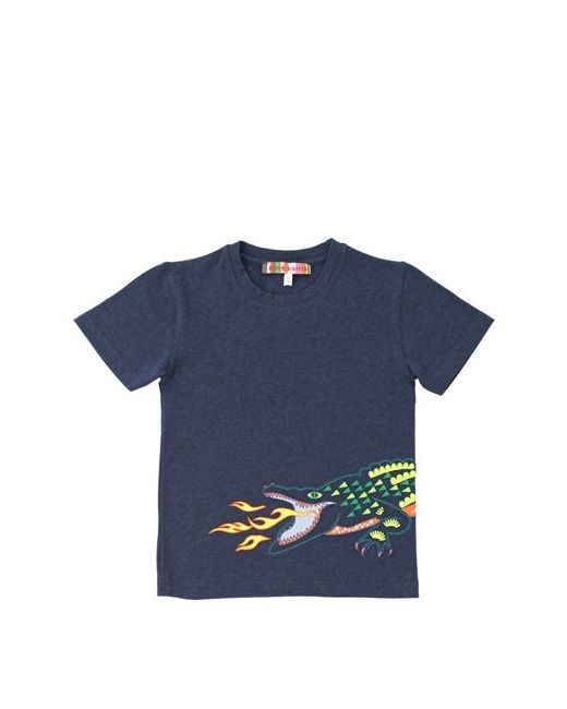 ANNE KURRIS | Navy Embroidered Cotton T-Shirt