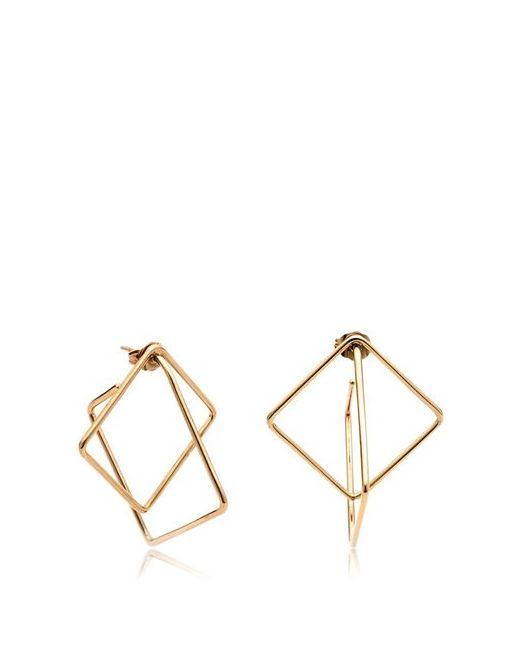 Caterina Zangrando | Золотой Mini Square Hoop Earrings