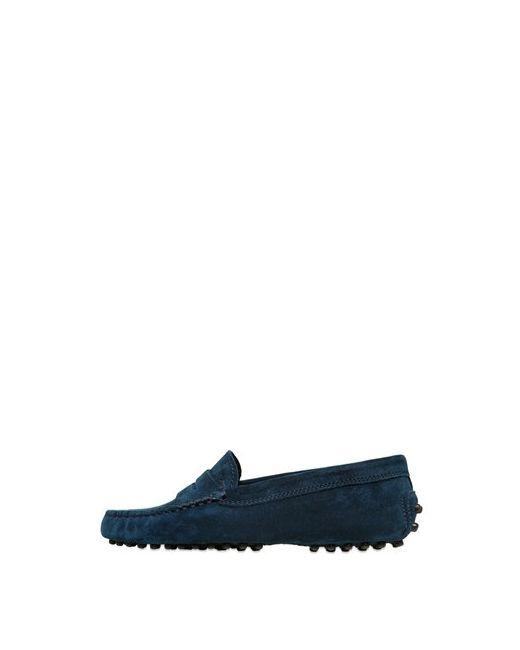Tod'S | Navy Gommino Suede Penny Loafers