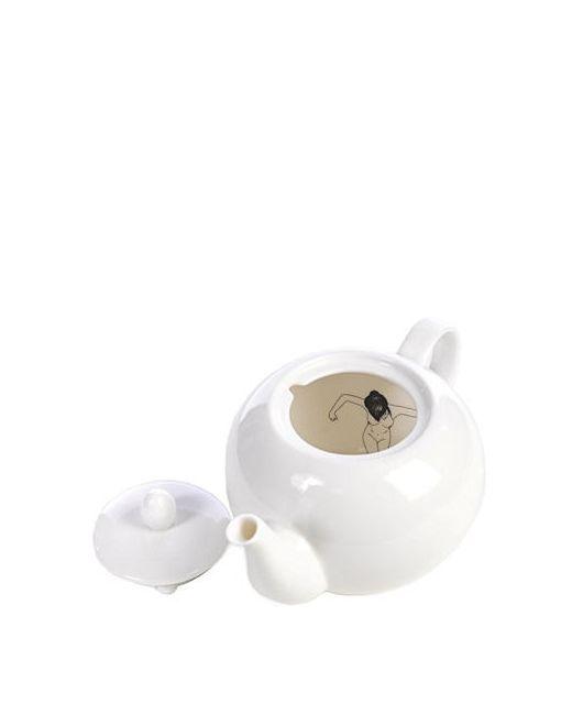 POLS POTTEN | Чёрный Undressed Porcelain Teapot