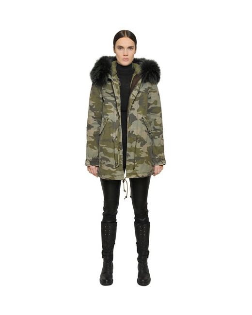 MR & MRS Italy | Синий Cotton Canvas Parka With Murmansky Fur