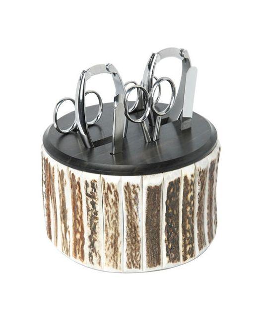 CEDES MILANO | Коричневый Deer Antler Toilet Manicure Set