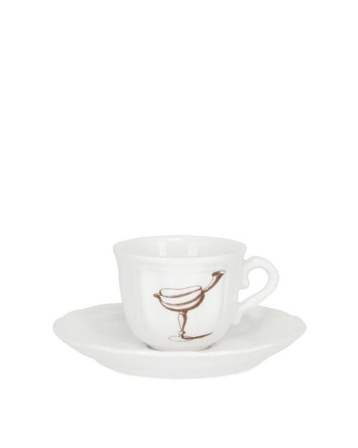 PAMPALONI | Белый Fruit Bichierografia Coffee Cup Saucer