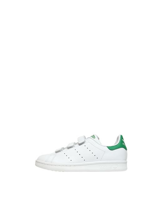 adidas Originals | Белый Stan Smith Faux Leather Strap Sneakers