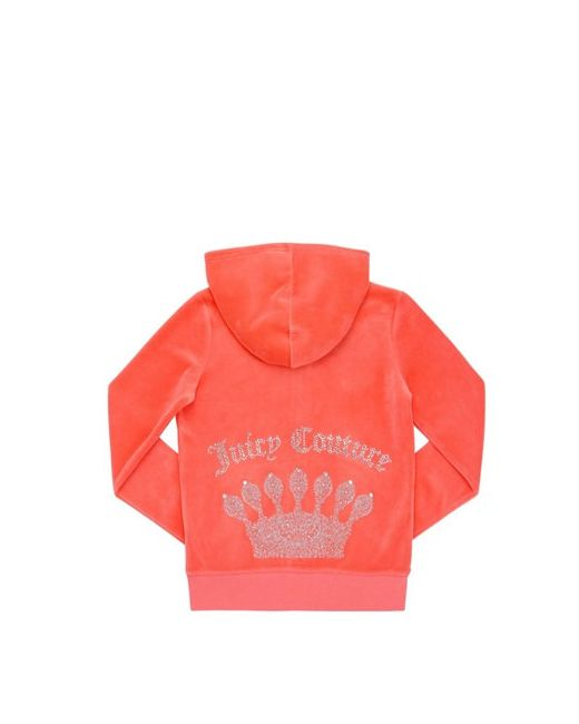 Juicy Couture | Coral Embellished Cotton Chenille Sweatshirt