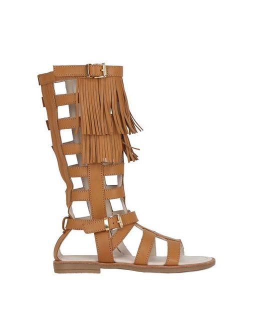 Florens | Коричневый Fringed Gladiator Sandals