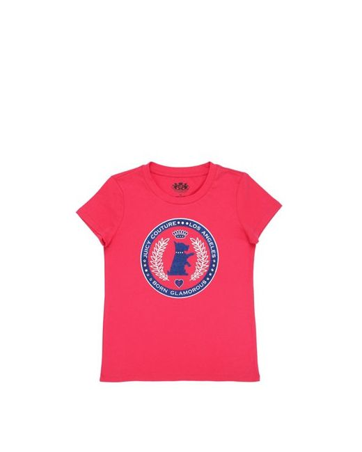 Juicy Couture | Fuchsia Dog Logo Printed Cotton Jersey T-Shirt