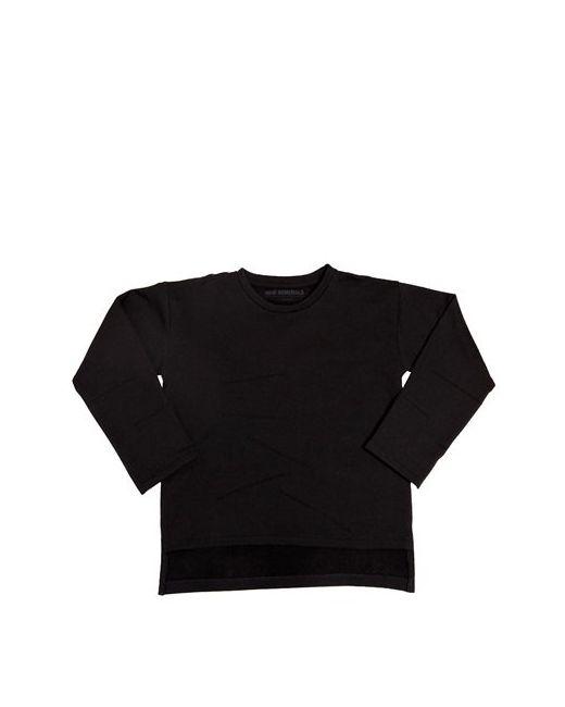 New Generals | Чёрный Asymmetric Organic Cotton Sweatshirt