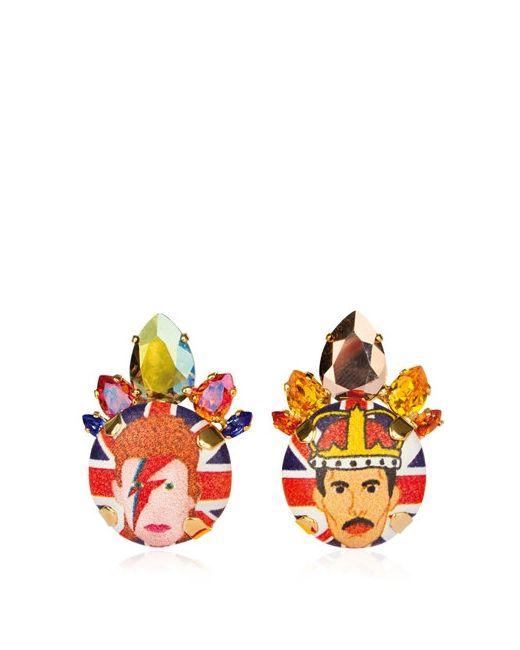 BIJOUX DE FAMILLE | Многоцветный Bowie Queen Earrings