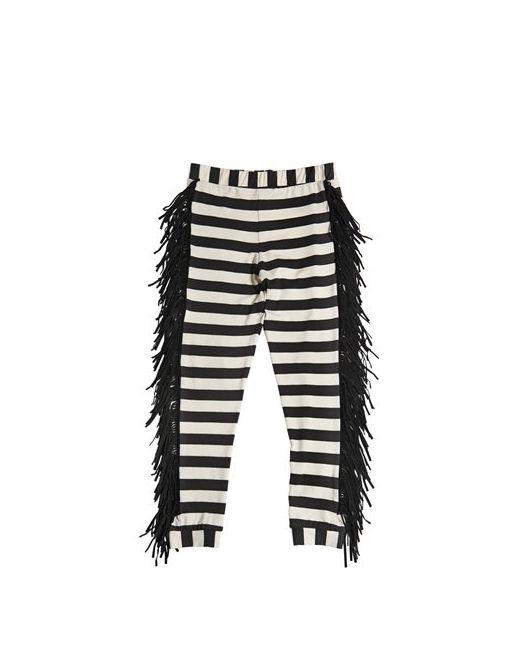 Bang Bang Copenhagen | Чёрный Striped Jersey Legging With Fringe