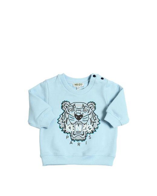 Kenzo Kids | Синий Logo Embroidered Cotton Sweatshirt
