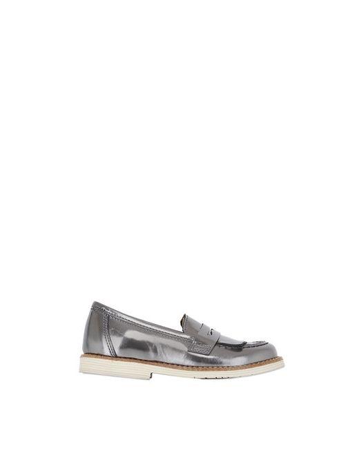 SONATINA | Серебристый Laminated Leather Penny Loafers