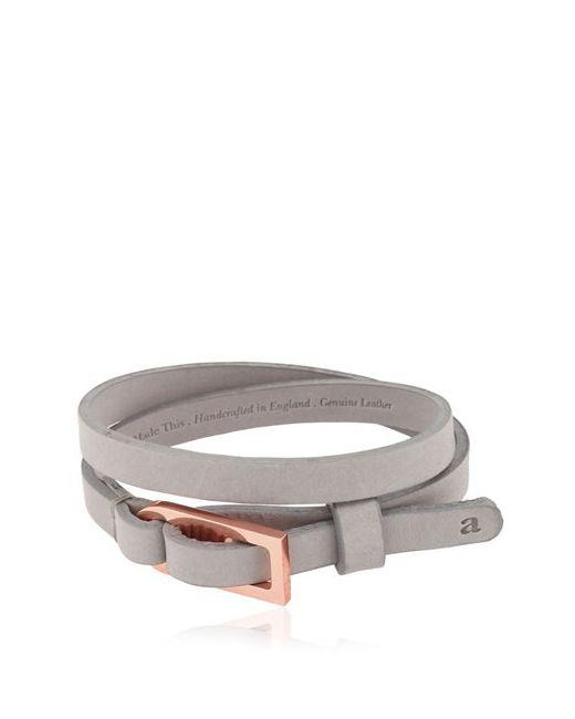 Alice Made This   Серый Edwin Leather Bracelet