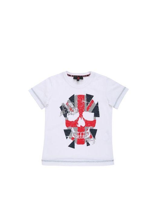 RICHMOND JUNIOR | Белый Flag Skull Printed Cotton Jersey T-Shirt