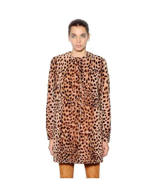 Drome | Leopard Printed Shearling Coat