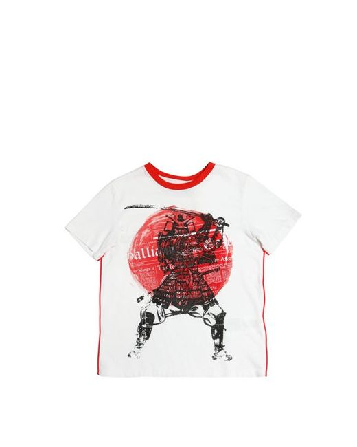 John Galliano | Белый Samurai Printed Cotton Jersey T-Shirt
