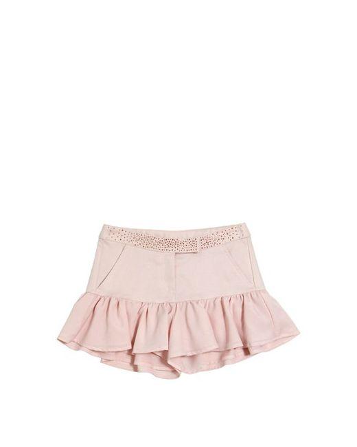 Miss Blumarine   Розовый Ruffled Cotton Jacquard Shorts
