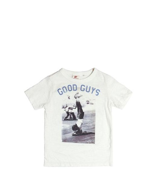 American Outfitters | Белый Skate Printed Slub Cotton Jersey T-Shirt